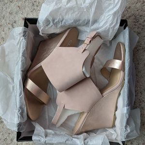 Chinese Laundry Shoes - Rose Gold wedge sandals